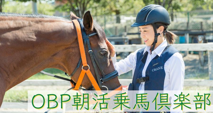 OBP朝活乗馬倶楽部 〜馬に癒され、ストレス・運動不足を解消しませんか?〜(8月8日スタート・全2回)