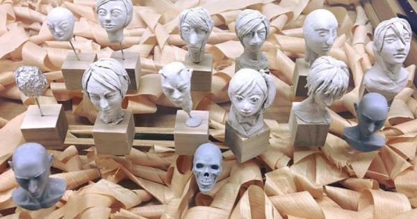 造形作家MAKIの粘土塾『~フィギュア初級編 人間の顔を作ろう!~』